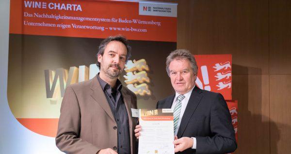 Zwei weitere unw-Mitgliedsunternehmen unterzeichnen WIN-Charta