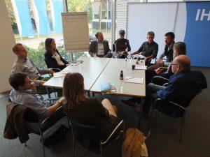 Moderierter Tisch beim WIN-Charta Praxisworkshop