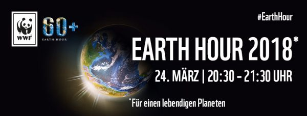 Earth Hour 2018: 24. März 20:30 - 21:30 Uhr