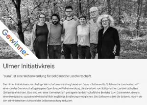 Die Aktiven von sunu. Sie sind Gewinner der Google Impact Challenge 2018.