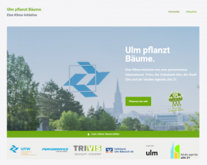"""Titel der Webseite """"Ulm-pflanzt-Bäume.de"""""""