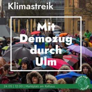 Aufruf zum Klimastreik von Fridays For Fure Ulm am 24.05.2019 um 12:00 Uhr auf dem marktplatz am Ulmer Rathaus