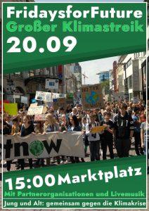 Aufruf zum Klimastreik am 20.09.2019 in Ulm