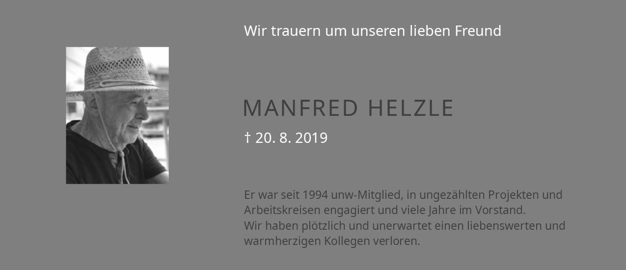 Trauerbanner Manfred Helzle (1949 - 2019)