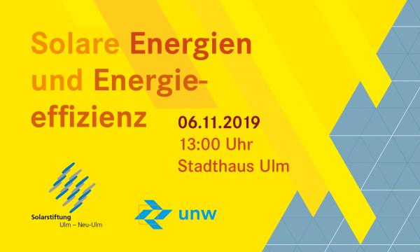 """Link zur Veranstaltung """"Solare Energien und Energieeffizienz"""""""