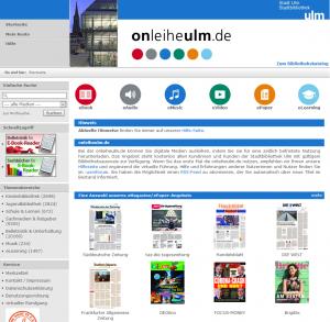screenshot onleiheulm.de