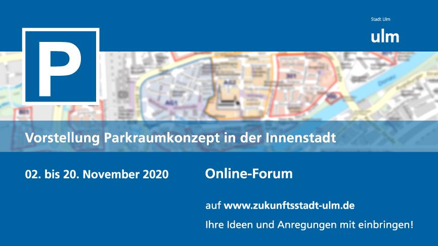 Hinweis auf Online-Forum zur Parkraumbewirtschaftung vom 02. bis 20. November 2020